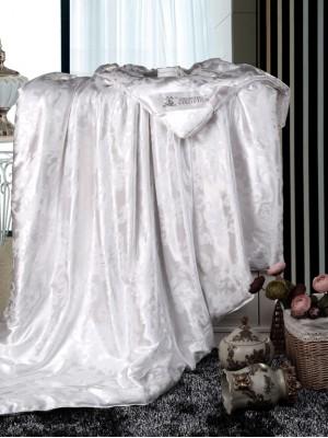 одеяло-шелк-бел220х200 Шёлковое одеяло Люкс всесезонное
