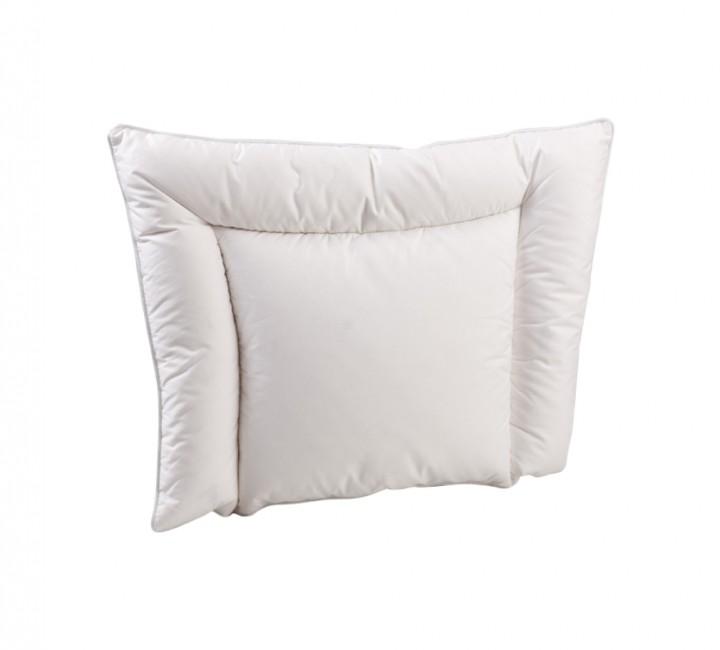 Анатомическая пуховая подушка для новорожденного «Белый гусенок» 38х50 см нполнитель: элитный белый гусиный пух категории премиум ткань: белый батист, импортный (100% хлопок). Кант - белый