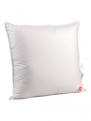 """Подушка мягая """"Лилия"""" 68х68 см наполнитель: элитный белый гусиный пух категории Премиум"""