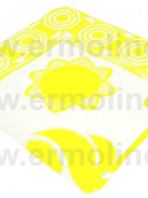 Желтое Байковое жаккард 100х140 100% х/б арт. 57-8ЕТЖ Ермолино одеяло