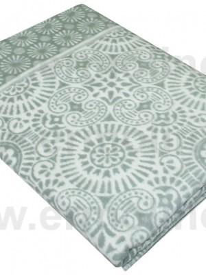 Серое Байковое жаккард 215х150 100% х/б арт. 5772ВЖК Ермолино одеяло