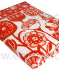 Морковный Цветы Байковое жаккард 215х150 100% х/б арт. 5772ВЖК Ермолино одеяло