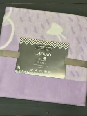 Лаванда Олененок 57-8ЕТЖ Премиум 100х140 100% х/б Байковое жаккард Ермолино одеяло