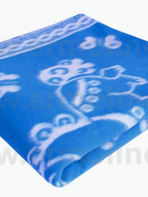 Синее Байковое 100х140 арт. 57-5ЕТОЖ 90% х/б Ермолино одеяло