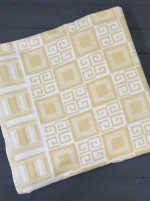 Бежевое Элегант 5772ВЖК 215х150 100% х/б Байковое жак одеяло Ермолино