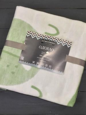 Омела Мишка 57-8ЕТЖ Премиум 100х140 100% х/б Байковое жаккард Ермолино одеяло