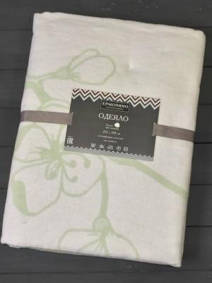 Фисташка Сакура 5772ВЖК Премиум 212х150 100 % х/б Байковое жаккард Ермолино одеяло