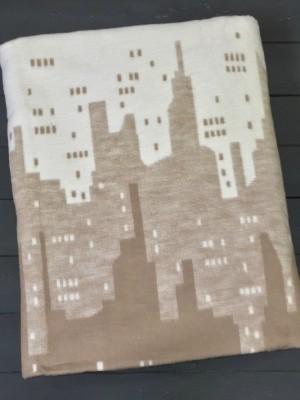 Коричневое ( Мегаполис ) 5772ВЖК 215х150 100% х/б Байковое жак Ермолино одеяло