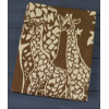 Коричневое ( Сафари ) 5772ВЖК 215х150 100% х/б Байковое жак Ермолино одеяло