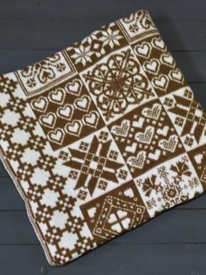 Коричневое ( Уют) 5772ВЖК 215х150 100% х/б Байковое жак Ермолино одеяло