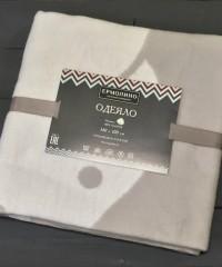 Светло-серый Слоник 57-8ЕТЖ Премиум 100х140 100% х/б Байковое жаккард Ермолино одеяло