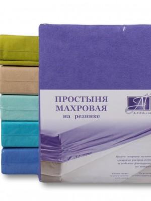 ПМР-ФА-180(180) Фиолетовая Астра простыня махровая на резинке 180х200+20