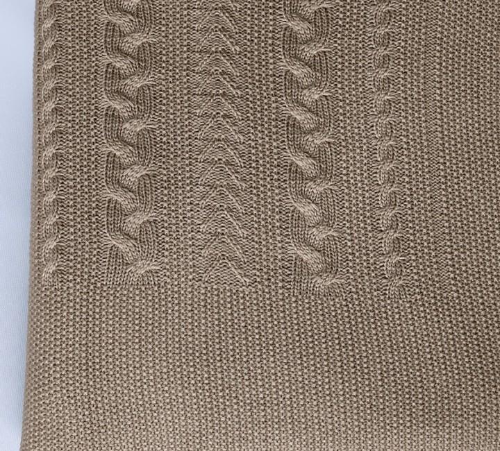 Коса (свиток) вязанный плед Valtery 175х210