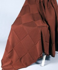 Квадрат (т.коричневый) вязанный плед Valtery 150х200
