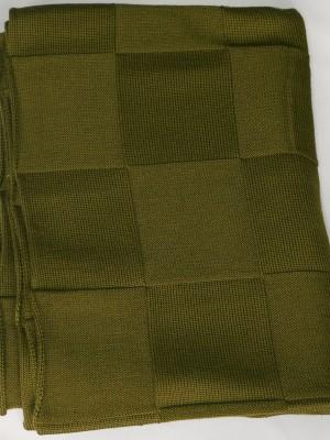 Квадрат (хаки) вязанный плед Valtery 150х200