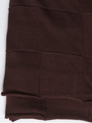 Квадрат (шоколад) вязанный плед Valtery 150х200