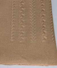 Коса (верблюжий) вязанный плед Valtery 150х200