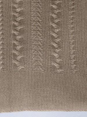 Коса (свиток) вязанный плед Valtery 150х200