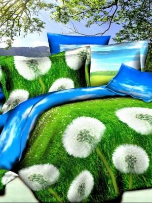 SF-08 комплект постельного белья Полисатин 3D Home Collection Евро