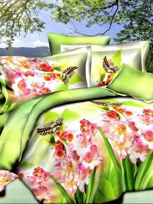 SF-12 комплект постельного белья Полисатин 3D Home Collection 1,5 спальный