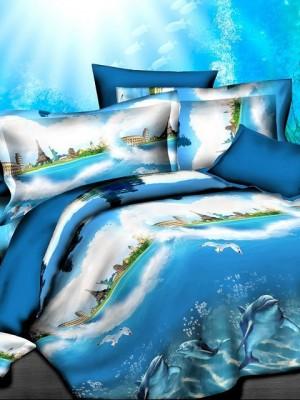 SF-11 комплект постельного белья Полисатин 3D Home Collection 2х спальный