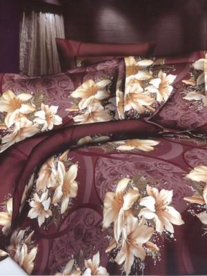 SF-19 комплект постельного белья Полисатин 3D Home Collection Евро