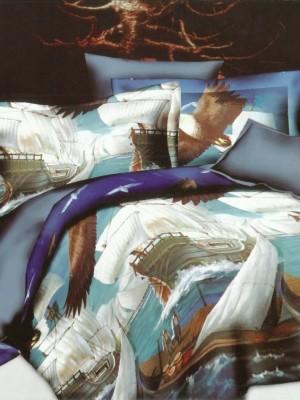 SF-21 комплект постельного белья Полисатин 3D Home Collection 2х спальный