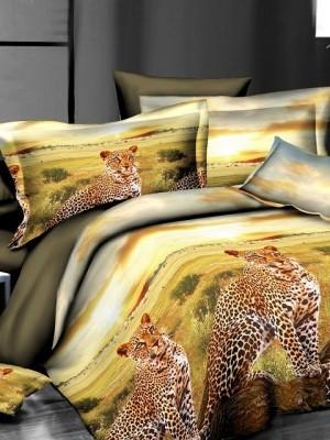 SF-01 комплект постельного белья Полисатин 3D Home Collection Евро