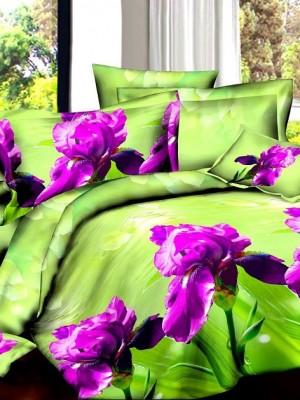 SF-02 комплект постельного белья Полисатин 3D Home Collection Евро