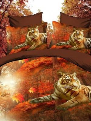 SF-05 комплект постельного белья Полисатин 3D Home Collection 2х спальный