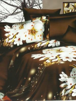 SF-04 комплект постельного белья Полисатин 3D Home Collection Евро