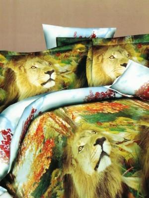 SF-18 комплект постельного белья Полисатин 3D Home Collection 1,5 спальный