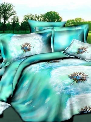 SF-06 комплект постельного белья Полисатин 3D Home Collection Евро