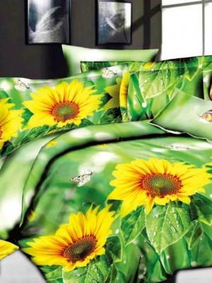 SF-16 комплект постельного белья Полисатин 3D Home Collection Евро