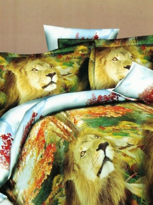 SF-18 комплект постельного белья Полисатин 3D Home Collection 2х спальный