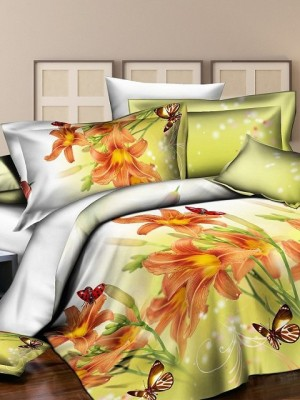 SF-07 комплект постельного белья Полисатин 3D Home Collection Евро