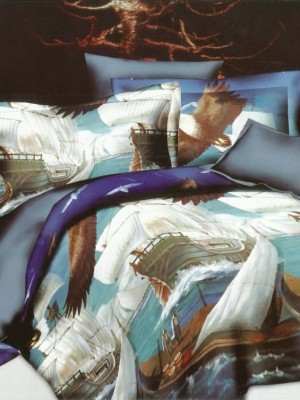SF-21 комплект постельного белья Полисатин 3D Home Collection 1,5 спальный