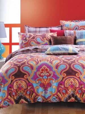 С-155 комплект постельного белья Сатин Valtery 1,5 спальный