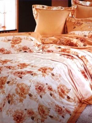 110-49 комплект постельного белья Сатин с вышивкой с отделкой габеленом Valtery Евро