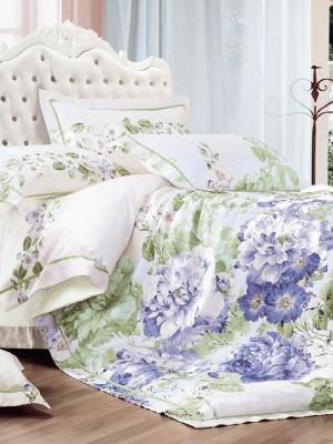 110-65 комплект постельного белья Сатин с вышивкой с отделкой габеленом Valtery Евро
