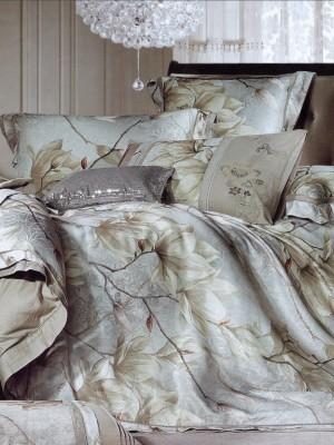110-66 комплект постельного белья Сатин с вышивкой с отделкой габеленом Valtery Евро