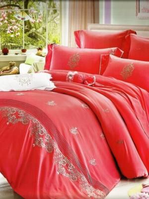 100-58 комплект постельного белья Сатин с вышивкой Valtery Евро