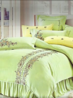 100-59 комплект постельного белья Сатин с вышивкой Valtery Евро