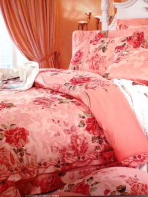 110-55 комплект постельного белья Сатин с вышивкой с отделкой габеленом Valtery Евро