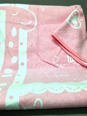 """Одеяло маленькое """"Чунга-Чанга"""" 100% х/б 100х140 бело-розовое"""