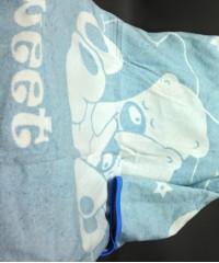 """Одеяло маленькое """"Сони"""" 100% х/б 100х140 бело-голубое"""