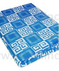 Синее Байковое одеяло жаккард 215х150 100% х/б