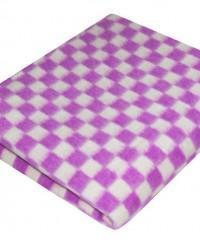 Фиолетовое Байковое 100х140 арт. 57-3ЕТ 90% х/б Ермолино одеяло