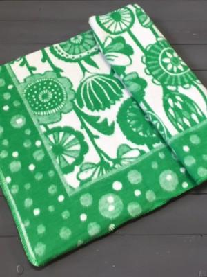 Изумрудные цветы Цветы Байковое жаккард 215х150 100% х/б арт. 5772ВЖК Ермолино одеяло