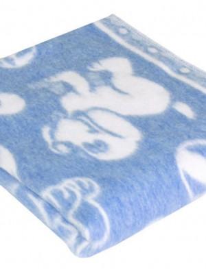 Голубое Байковое 100х140 арт. 57-5ЕТОЖ 90% х/б Ермолино одеяло